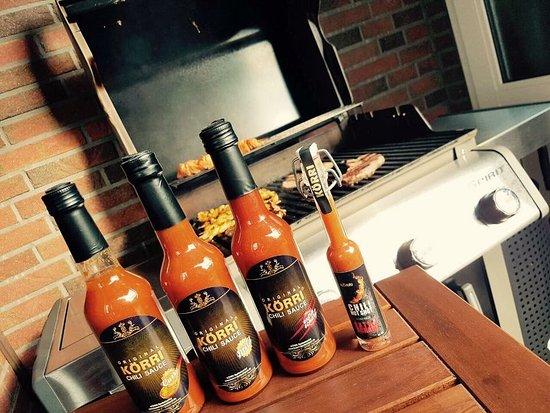 KÖRRI Speisekontor: Chili Sauce : Mild, Curry, extra scharf und unser HOT SHOT !!!