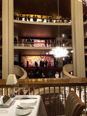 The Grand Tier Restaurant: View of the opera house from the restaurant