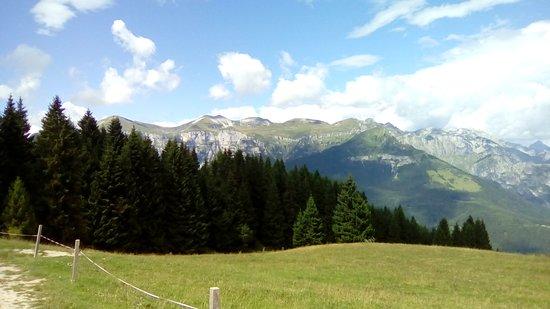 Pedavena, อิตาลี: Dolomiti Feltrine viste dalla carrareccia al ritorno da malga Campet (m. 1412) in un giorno di tempo variabile (agosto 2018). La malga si trova a circa 15 km da Feltre (BL), a pochi km da passo Croce d'Aune (m. 1011).