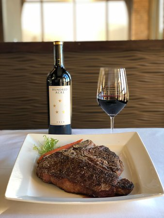 The Steakhouse is know for its delightful wine and entree pairings.