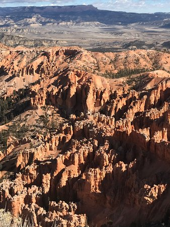 Arches National Park, UT: Looking down into one of the hoodoo canyons.
