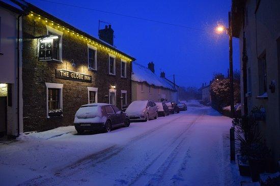 Torridge, UK: Pub in the snow