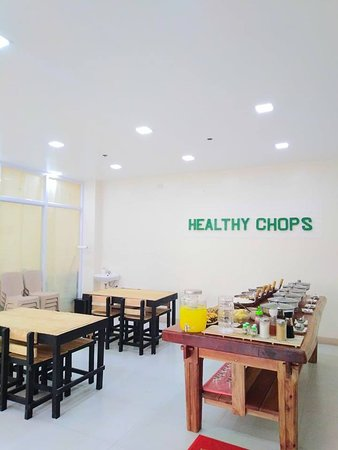 Rosario, Filipinas: I am excited to see you at my place, Healthy Chops Restaurant. It's an eat-all-you-can, eat-all-you-want food place. Buffet entrance is only PHP 169.00!