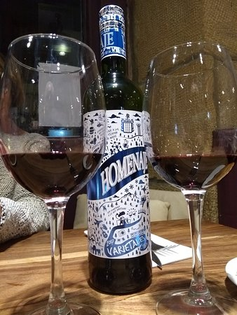 ubarrechena: super vin 14° au menu