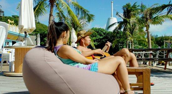 Beach side Bean-Bag seating