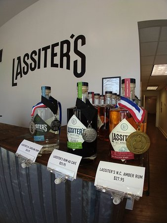 We retail in our tasting room each of our three award-winning rums to those who take a tour, subject to requirements under NC laws.