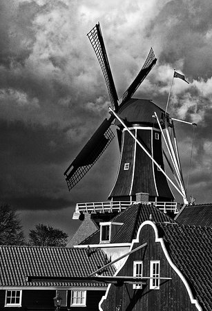 KLM Royal Dutch Airlines: Molen Adriaan - Haarlem.