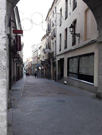 Una de las calles adyacentes
