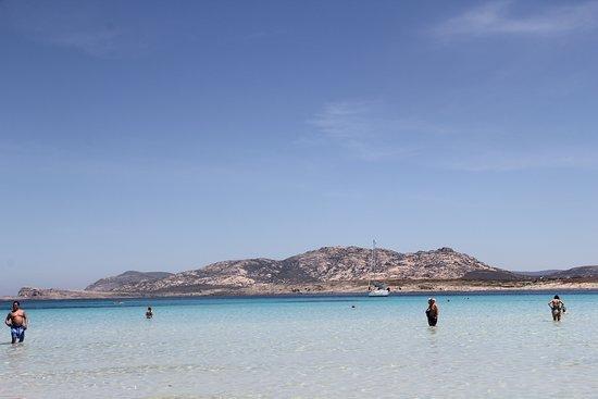 Sardinie, Itálie: PLaya la Pelosa....llegamos en auto , vale la pena