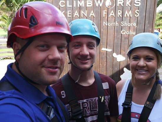 Our first experience zip lining