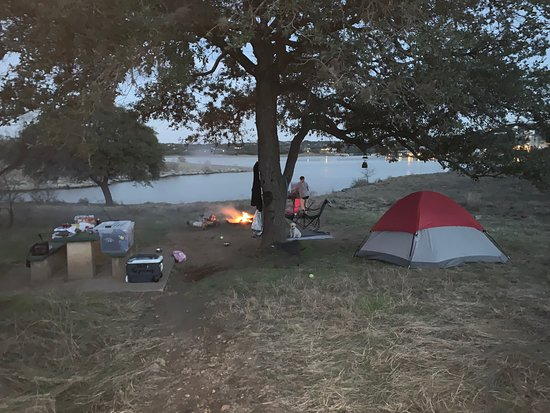 I really enjoyed my time camping at Pace Bend Park. Fair prices, plenty of space between your fellow neighbors (very important if you like secluded grounds), beautiful views and WILD coyote activity.  The coyotes were amazing to hear, we had heard them going nuts about 200 yards away and it's pretty cool. Pet friendly. Giving this a 5 star visit!