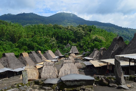 ancestral viilage on flores island called BENA village belong to Ngada tribe