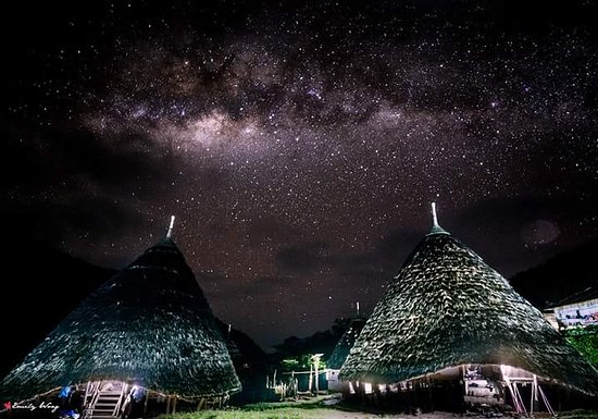 Flores, Indonesia: Wae Rebo viilage by night time
