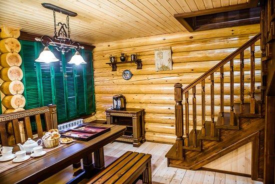 """Usadba Baths Complex: Баня на дровах """"Греция"""", комната отдыха, 1 этаж"""