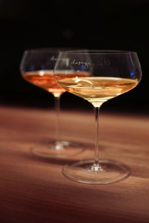 "Dosage - Bar a Champagne: We designed our own glass. The ""Coupe Dosage"". You can buy it at our bar ;)"