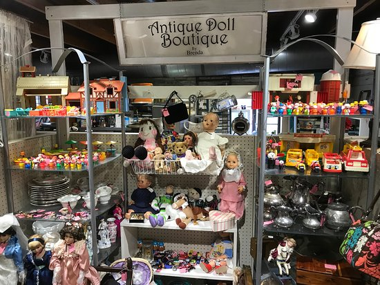McKinney, TX: Booth Called Antique Doll Boutique - Adorable Dolls, Fisher Price Little People, China, Silver, Barbies, Vintage Purses and Glassware
