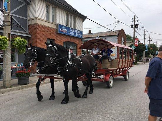 Sutton, Canada: Free horse drawn wagon rides during Festival on High.