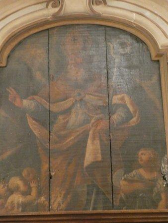 olio su tavolo raffigurante san Biagio Vescovo