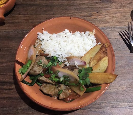Peruano: The Lomo Saltado was good, but not authentic.