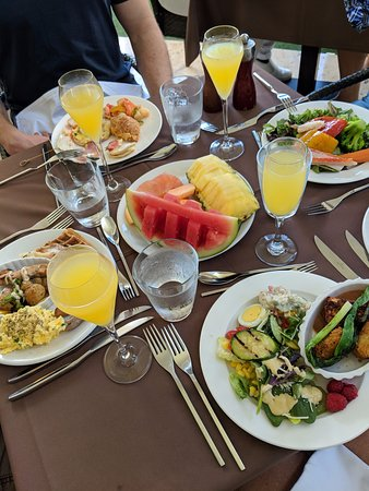 Sunday Brunch was the best we have ever had. The food selection was tremendous and delicious.
