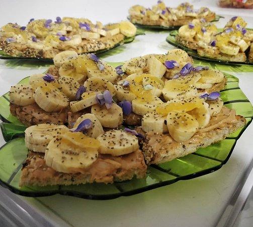 banana tostadas for catering