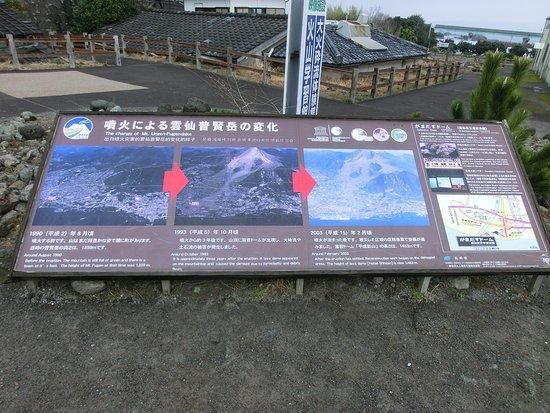 噴火の前後の写真を見比べると噴火のすごさがわかる