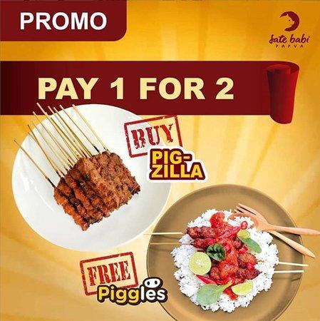 Promo Minggu Ini, Pay 1 FOR 2! Dengan hanya membayar untuk PIGZILLA, kita mendapakan juga PIGGLES. Asyik kan?
