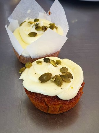 We have fresh delicious pumpkin cake with cream cheese icing in store, Yes you read that right PUMPKIN CAKE but holy moly these are amazing!! 😍 oh and did we mention, they are GLUTEN AND DAIRY FREE!!