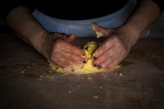 Cocina casera de pasta fresca.
