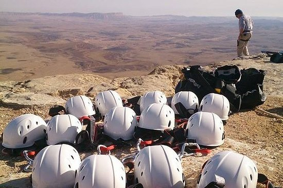 The Ramon Crater and rappelling...