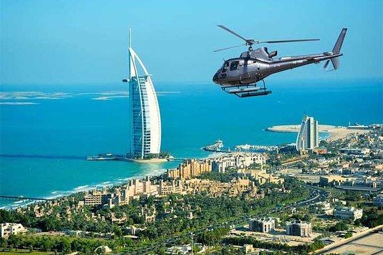 Helicóptero icónico en Dubai