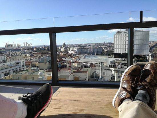 Vistas De La Terraza Picture Of Dear Hotel Madrid