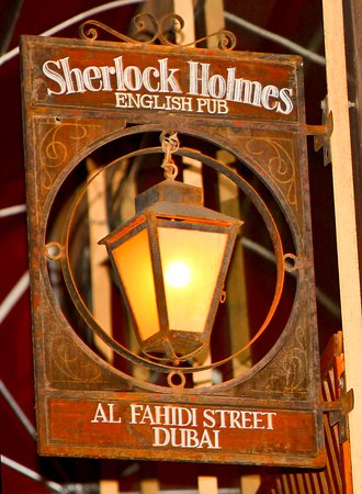 Sherlock Holmes English Pub,Fun , Friendly a great place to meet people!Since 2005 Sherlock has been one of Dubai most popular gathering establishment boasting authentic feel. Offering attractive food and Beverage Promotion along with Live band and live sport. Highlight of February Super Happy hour promotion ongoing everyday from 12 noon til 9:00pm