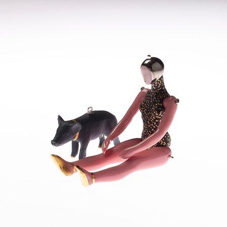 Hand-crafted porcelain art jewelry. Pendants. Miniature sculptures.