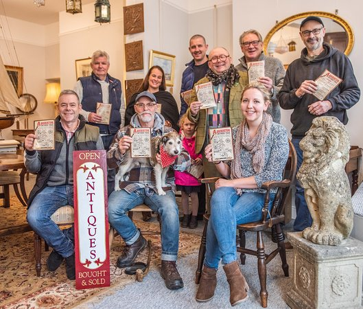 Ashburton, UK: Antique Dealers gather for the launch of the Antiques Trail