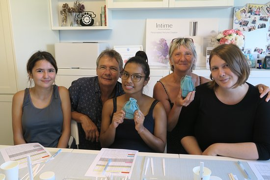 Intime Artisan de Parfum: Thanks the sweet French family visited us for bespoke perfume making!