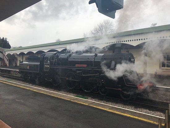 Churston Ferrers, UK: Train station next door