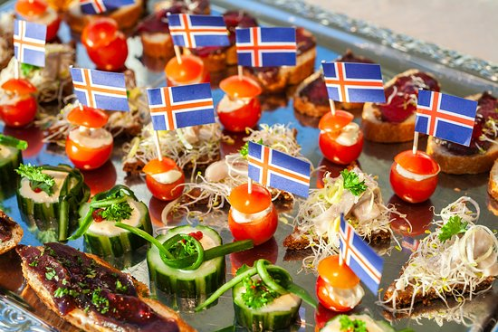 Canapes at Max's Restaurant, Northern Light Inn, Iceland.