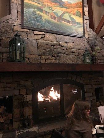 Village Tavern Hanes Mall: Fireplace