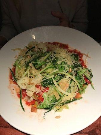 Village Tavern Hanes Mall: Spaghetti squash and zucchini