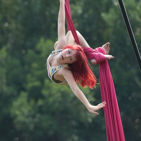 Aerialists at the Davis County Fair