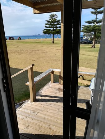 Northland Region, Neuseeland: Nice wide deck  to sit out on