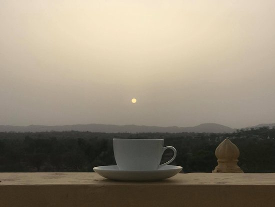 At Sunset view from Deogarh Hills rooftop to be followed by evening tea