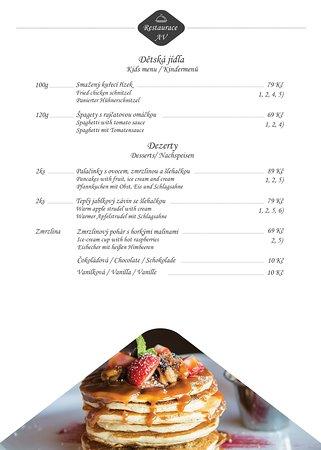 AVe Restaurant: Náš jídelní a nápojový lístek