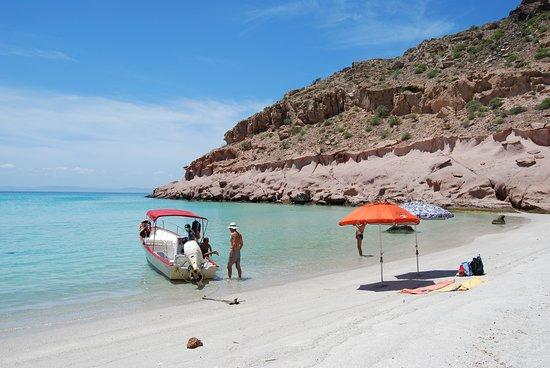 Isla Spiritu Santo, La Paz, Baja California, Messico: la nostra spiaggia deserta personale, per un giorno.