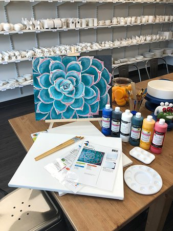 Drop in and paint your own canvas with our laminated step by step instructions!