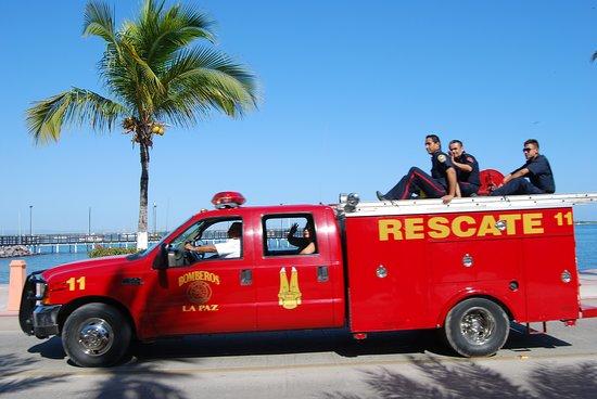 La Paz, Baja California, Messico: festa dei pompieri