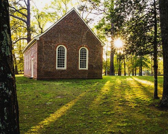 Merchant's Hope Church in Prince George County, Virginia.