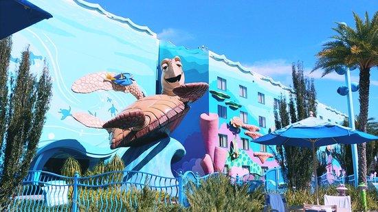 Disney's Art of Animation Resort: The big Blue Pool
