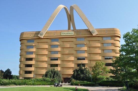 Frazeysburg, Ohio: L'original siège social de LONGABERGER, une compagnie qui produisait des paniers en érables qui a malheureusement fermé ses portes.